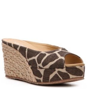 CL by Laundry Giraffe Print Espadrilles